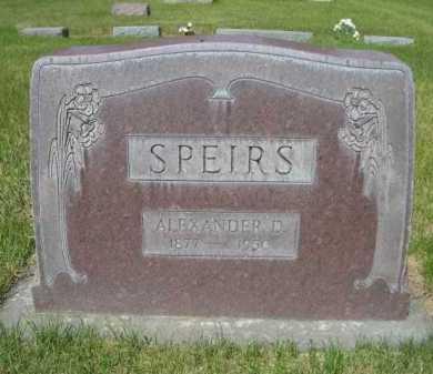 SPEIRS, ALEXANDER D. - Dawes County, Nebraska   ALEXANDER D. SPEIRS - Nebraska Gravestone Photos