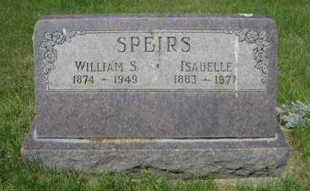 SPEIRS, WILLIAM S. - Dawes County, Nebraska | WILLIAM S. SPEIRS - Nebraska Gravestone Photos