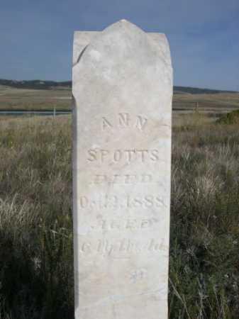 SPOTTS, ANN - Dawes County, Nebraska | ANN SPOTTS - Nebraska Gravestone Photos