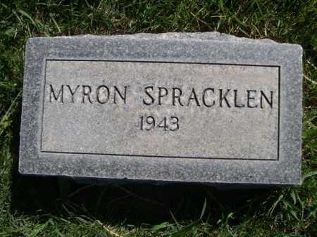 SPRACKLEN, MYRON - Dawes County, Nebraska | MYRON SPRACKLEN - Nebraska Gravestone Photos