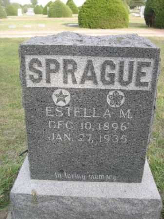 SPRAGUE, ESTELLA M. - Dawes County, Nebraska | ESTELLA M. SPRAGUE - Nebraska Gravestone Photos