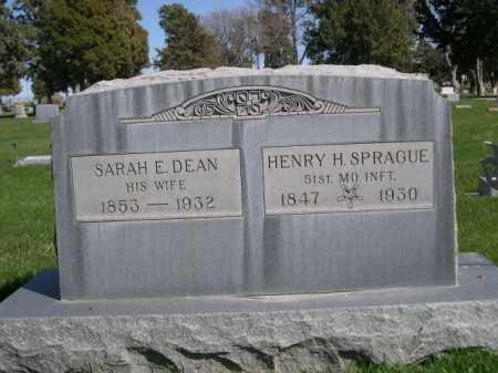 DEAN SPRAGUE, SARAH E. - Dawes County, Nebraska | SARAH E. DEAN SPRAGUE - Nebraska Gravestone Photos