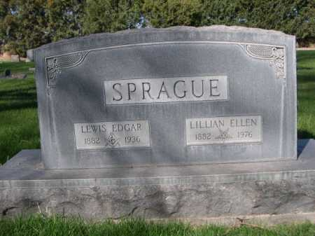 SPRAGUE, LEWIS EDGAR - Dawes County, Nebraska | LEWIS EDGAR SPRAGUE - Nebraska Gravestone Photos