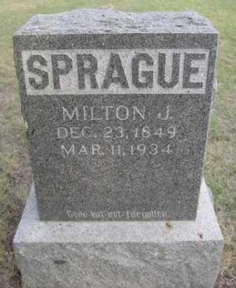 SPRAGUE, MILTON J. - Dawes County, Nebraska | MILTON J. SPRAGUE - Nebraska Gravestone Photos