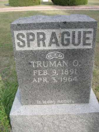 SPRAGUE, TRUMAN O. - Dawes County, Nebraska | TRUMAN O. SPRAGUE - Nebraska Gravestone Photos