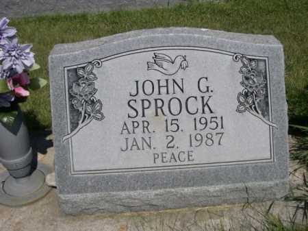SPROCK, JOHN G. - Dawes County, Nebraska   JOHN G. SPROCK - Nebraska Gravestone Photos