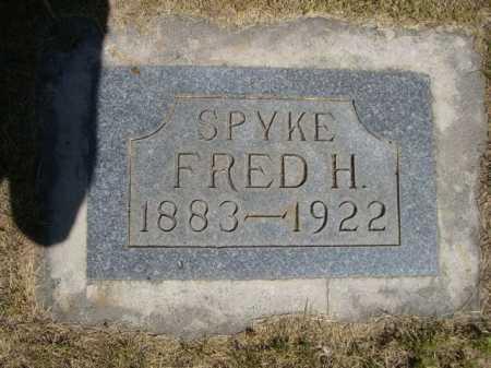SPYKE, FRED H. - Dawes County, Nebraska | FRED H. SPYKE - Nebraska Gravestone Photos