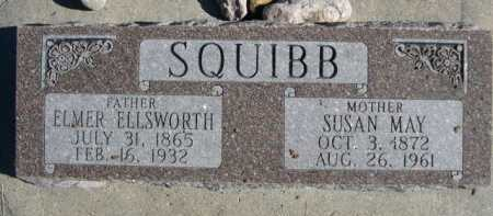 SQUIBB, ELMER ELLSWORTH - Dawes County, Nebraska | ELMER ELLSWORTH SQUIBB - Nebraska Gravestone Photos