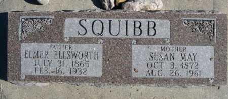 SQUIBB, ELMER ELLSWORTH - Dawes County, Nebraska | ELMER ELLSWORTH SQUIBB - Nebraska Gravestone Photos