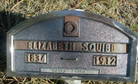 SQUIBB, ELIZABETH - Dawes County, Nebraska | ELIZABETH SQUIBB - Nebraska Gravestone Photos