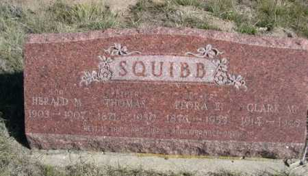 SQUIBB, FLORA E. - Dawes County, Nebraska | FLORA E. SQUIBB - Nebraska Gravestone Photos