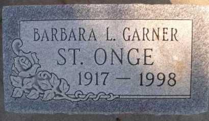 ST. ONGE, BARBARA L. - Dawes County, Nebraska | BARBARA L. ST. ONGE - Nebraska Gravestone Photos