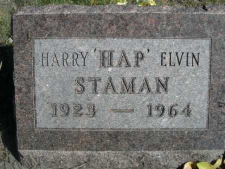STAMAN, HARRY 'HAP' ELVIN - Dawes County, Nebraska   HARRY 'HAP' ELVIN STAMAN - Nebraska Gravestone Photos