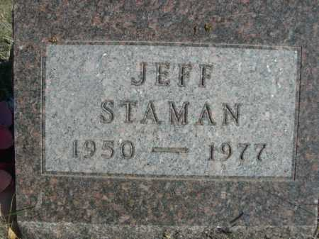 STAMAN, JEFF - Dawes County, Nebraska   JEFF STAMAN - Nebraska Gravestone Photos