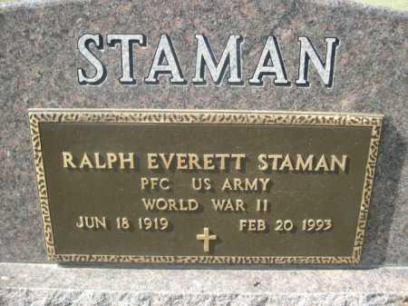 STAMAN, RALPH EVERETT - Dawes County, Nebraska   RALPH EVERETT STAMAN - Nebraska Gravestone Photos