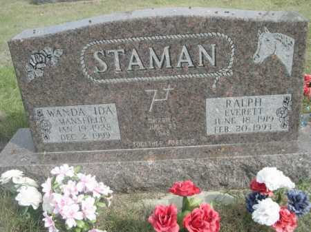 STAMAN, RALH EVERETT - Dawes County, Nebraska | RALH EVERETT STAMAN - Nebraska Gravestone Photos
