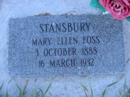 FOSS STANSBURY, MARY ELLEN - Dawes County, Nebraska | MARY ELLEN FOSS STANSBURY - Nebraska Gravestone Photos