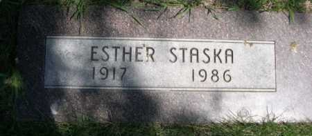 STASKA, ESTHER - Dawes County, Nebraska | ESTHER STASKA - Nebraska Gravestone Photos