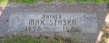 STASKA, MAX - Dawes County, Nebraska | MAX STASKA - Nebraska Gravestone Photos
