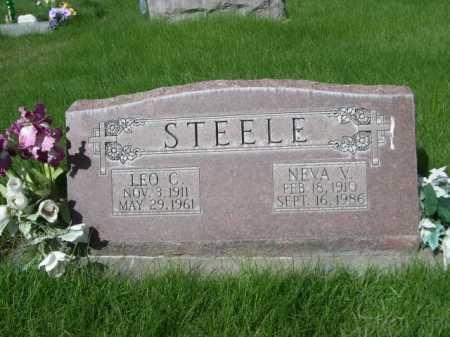 STEELE, NEVA V. - Dawes County, Nebraska | NEVA V. STEELE - Nebraska Gravestone Photos