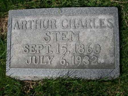 STEM, ARTHUR CHARLES - Dawes County, Nebraska | ARTHUR CHARLES STEM - Nebraska Gravestone Photos