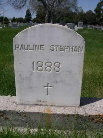 STEPHAN, PAULINE - Dawes County, Nebraska | PAULINE STEPHAN - Nebraska Gravestone Photos