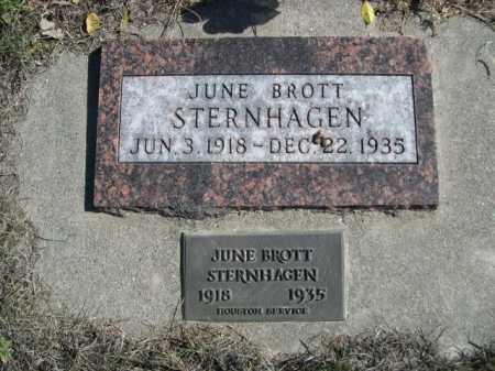 BROTT STERNHAGEN, JUNE - Dawes County, Nebraska | JUNE BROTT STERNHAGEN - Nebraska Gravestone Photos