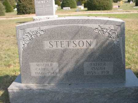 STETSON, ISAIAH - Dawes County, Nebraska   ISAIAH STETSON - Nebraska Gravestone Photos