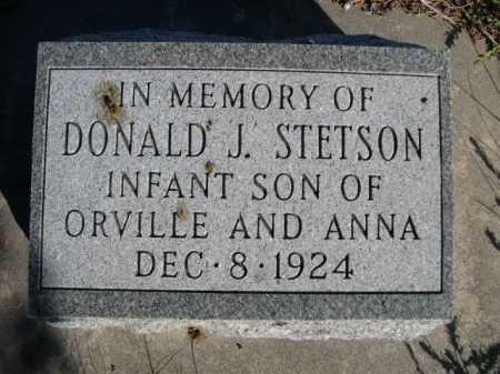 STETSON, DONALD J. - Dawes County, Nebraska   DONALD J. STETSON - Nebraska Gravestone Photos