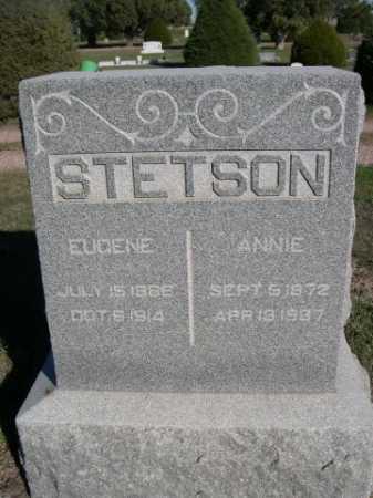 STETSON, EUGENE - Dawes County, Nebraska | EUGENE STETSON - Nebraska Gravestone Photos