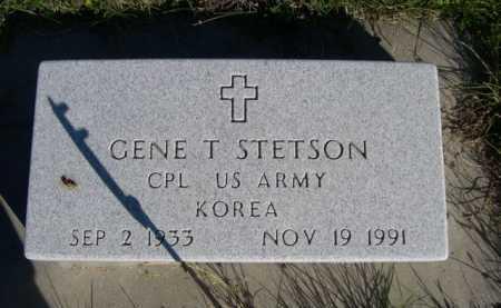STETSON, GENE T. - Dawes County, Nebraska | GENE T. STETSON - Nebraska Gravestone Photos