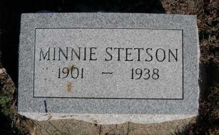 STETSON, MINNIE - Dawes County, Nebraska | MINNIE STETSON - Nebraska Gravestone Photos