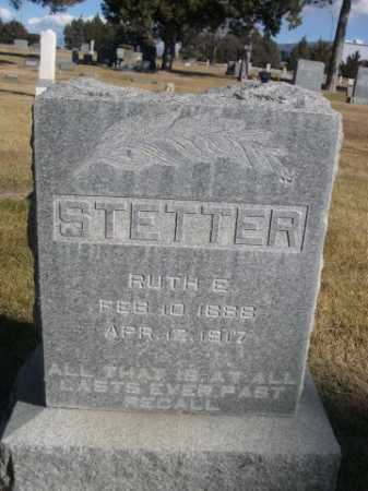 STETTER, RUTH E. - Dawes County, Nebraska | RUTH E. STETTER - Nebraska Gravestone Photos