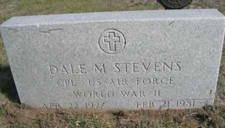 STEVENS, DALE M. - Dawes County, Nebraska   DALE M. STEVENS - Nebraska Gravestone Photos