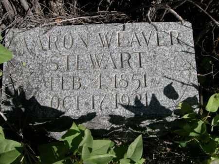 STEWART, AARON WEAVER - Dawes County, Nebraska   AARON WEAVER STEWART - Nebraska Gravestone Photos