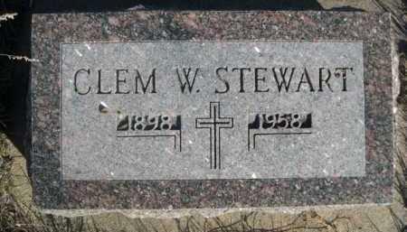 STEWART, CLEM W. - Dawes County, Nebraska | CLEM W. STEWART - Nebraska Gravestone Photos