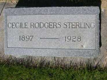 STERLING, CECILE RODGERS - Dawes County, Nebraska | CECILE RODGERS STERLING - Nebraska Gravestone Photos