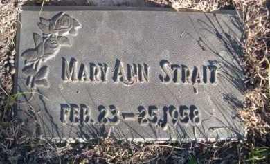 STRAIT, MARY ANN - Dawes County, Nebraska   MARY ANN STRAIT - Nebraska Gravestone Photos