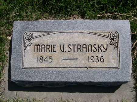 STRANSKY, MARIE V. - Dawes County, Nebraska   MARIE V. STRANSKY - Nebraska Gravestone Photos