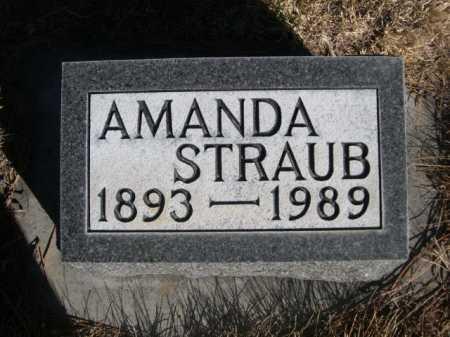 STRAUB, AMANDA - Dawes County, Nebraska   AMANDA STRAUB - Nebraska Gravestone Photos