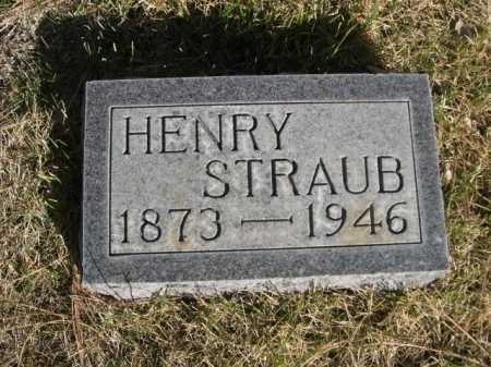 STRAUB, HENRY - Dawes County, Nebraska | HENRY STRAUB - Nebraska Gravestone Photos