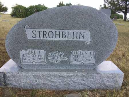 STROHBEHN, EARL F. - Dawes County, Nebraska   EARL F. STROHBEHN - Nebraska Gravestone Photos