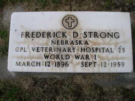STRONG, FREDERICK D. - Dawes County, Nebraska   FREDERICK D. STRONG - Nebraska Gravestone Photos