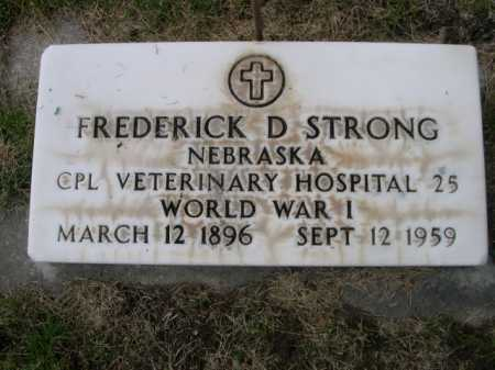 STRONG, FREDERICK D. - Dawes County, Nebraska | FREDERICK D. STRONG - Nebraska Gravestone Photos