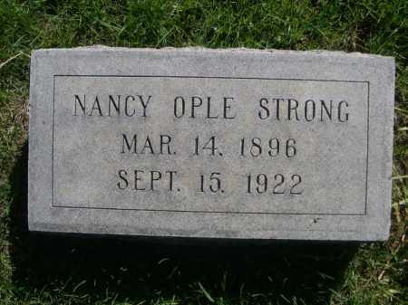 STRONG, NANCY OPLE - Dawes County, Nebraska | NANCY OPLE STRONG - Nebraska Gravestone Photos
