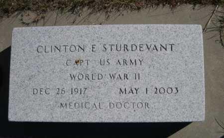 STURDEVANT, CLINTON E. - Dawes County, Nebraska   CLINTON E. STURDEVANT - Nebraska Gravestone Photos