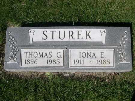 STUREK, IONA E. - Dawes County, Nebraska | IONA E. STUREK - Nebraska Gravestone Photos