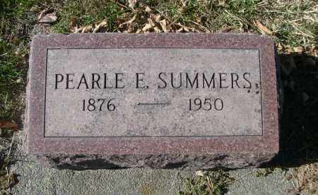 SUMMERS, PEARLE E. - Dawes County, Nebraska | PEARLE E. SUMMERS - Nebraska Gravestone Photos