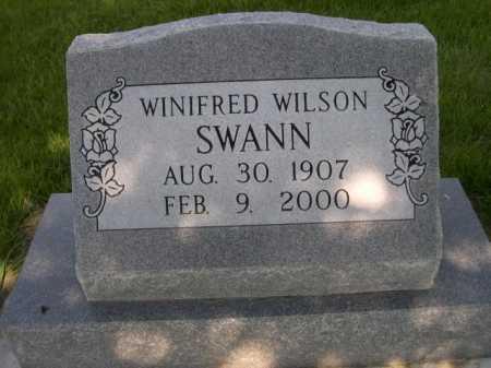 WILSON SWANN, WINFRED - Dawes County, Nebraska | WINFRED WILSON SWANN - Nebraska Gravestone Photos