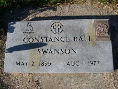 SWANSON, CONSTANCE BALL - Dawes County, Nebraska | CONSTANCE BALL SWANSON - Nebraska Gravestone Photos